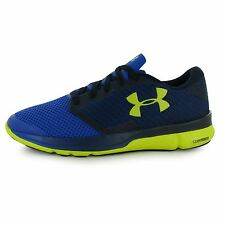 Under Armour Charged Reckless Running Shoes Mens Blue/Navy Trainers Sneakers
