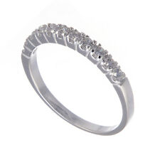 Ladies 925 Sterling Silver CZ Half Eternity Ring (Sizes K - R 1/2)