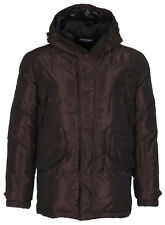 Dolce & Gabbana D&G Men's Dark Brown Duck Down Hooded Winter Jacket