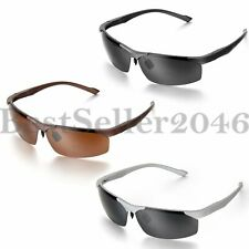Mens Polarized Sports Sunglasses Outdoor Driving Aviator Glasses UV400 Eyewear