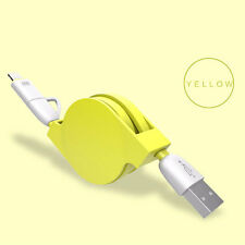 2-In-1 Micro USB + Lightning Adapter Sync Data Charger Cable For iPhone Android