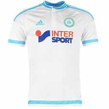 Adidas Olympique de Marseille Home Jersey 2015 2016 Mens White/Blue Shirt Top