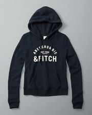 Abercrombie & Fitch Womens Logo Graphic Hoodie S/M/L NAVY