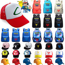Pokemon Cap/Backpack Team Valor Instinct Mystic Nerd School Bag Baseball Cap Hat