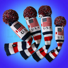 Golf Pom Pom Cover Driver Rescue Fairway FW Taylormade Headcover Hybrid US Flag