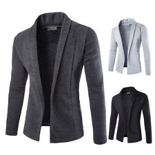 Fashion Men's Stylish Slim Fit Knit V-Neck Cardigan Long Sweater Coat Jacket