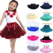 Princess Child Girl Layer  Mini Skirt Party Dance Cake Tutu Skirt Dance Dress