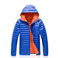 Mens Winter Outdoor Hiking Puffer Duck Down Warm Jacket Parka Sports Casual Coat