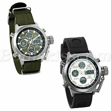 Men Army INFANTRY Outdoor Sport Luminous Dual Display Digital Quartz Wrist Watch
