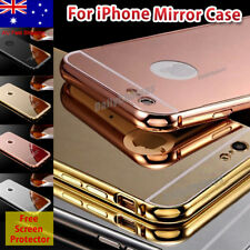 Luxury Mirror Aluminum Metal Ultra-thin Case Cover for Apple iPhone 7 6 6s Plus