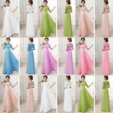 Ladies Formal Long Lace Womens Prom Evening Party Bridesmaid Wedding prom Dress