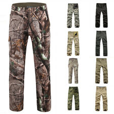Men Winter Warm Fleece Trousers Waterproof Fabric Outdoor Camo Combat Army Pants