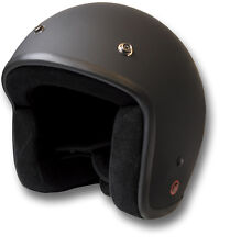 SLIM SIXTY JET MOTORCYCLE HELMET, OPEN FACE, MATTE BLACK, DOT-APPROVED [70957]