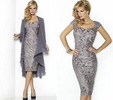 New lace Formal Evening Mother of the Bride Dress & Free Jacket Stock Size 6 -18