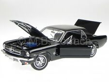 Ford Mustang Coupe 1964 1/2 black diecast model car 12519 Welly 1/18