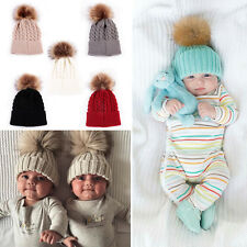 Toddler Kids Girls Boys Baby Infant Winter Warm Crochet Knitted Hat Beanie Cap