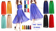 Ladies Summer Maxi Dress Size 8-12 Womens New Evening/Cocktail/Party Long Skirt