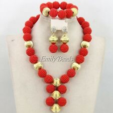 Fashion African Wedding Beads Balls Jewelry Set big necklace earrings bracelet