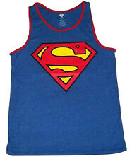 DC COMICS Authentic Superman Logo Tank Top Reversible two design S-XL Red Blue