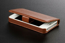 Luxury Genuine Leather Magnetic Flip Holster Case Cover for Apple iPhone 4 4S