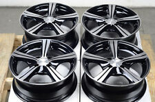 14 4x100 Black Effect Rims Fits Polished Face Lancer Jetta Cabrio 4 Lug Wheels