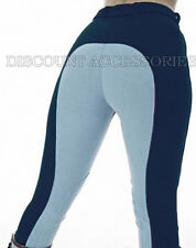 HORSE RIDING LADIES SOFT STRETCHY JODPHURS JODHPURS JODS TWO TONE NAVY BABY BLUE