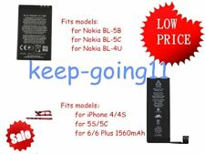 HOT! Li-ion Battery Replacement  for iPhone 5S/5C/6/6plus for Nokia Lot GK