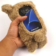 For Samsung S7 Edge Note 7 5 4 3D Cute Doll Toy Warm Plush Teddy Bear Cover Case