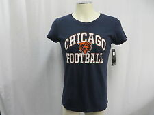 Chicago Bears Graphic Short Sleeve T-Shirt Women's Blue 100% Cotton New NWT