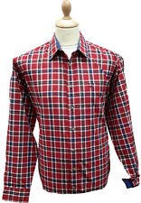 Bar Harbour Red Luxury Check Shirt BX0075 in Sizes 2XL, 3XL, 4XL and 5XL