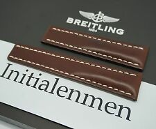 Breitling LEATHER brown 438X 22/20 strap band 100% ORIGINAL & NEW