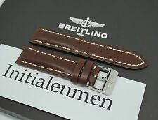 Breitling LEATHER brown 437X 22/20 strap band 100% ORIGINAL & NEW Tang Buckle