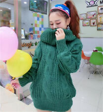 Women Sweaters Long Sleeve Thin Knitwear High Collar Loose Coat Pullover Tops