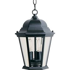 Maxim 1009BK Westlake Cast 3-Light Outdoor Hanging Lantern Light Fixture Black