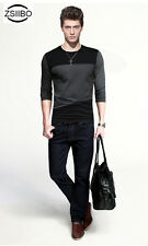 ZSIIBO Brand Grade A cotton autumn winter crew Neck Men Long Sleeve T-Shirt