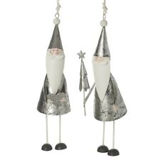 Silver Metal Hanging Santa Christmas Tree Decoration By Heaven Sends