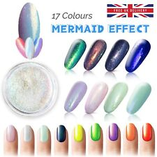 MERMAID EFFECT NAILS Different COLORS Shimmer Dust Glitter Powder Iridescent UK