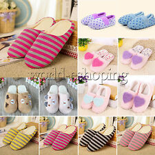 Womens Mens Soft Winter Warm Anti-slip Shoes Slippers Casual Home Indoor Flats
