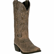 Laredo Womens Taupe Cassie Leather Cowboy Boots Western 11in