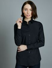 Hawes & Curtis Womens Semi Fitted Cotton Shirt Single Cuff Long Sleeve