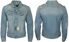 BRAND NEW MENS LEE LIGHT WASH DENIM RIDER JACKET ALL SIZES S TO XXL
