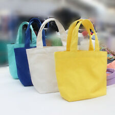 1pc New Fashion Colorful Lunch Canvas Storage Bag Convenient Shopping bag Useful