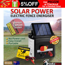 5km 8km or 15km Solar Power Electric Fence Energiser Charger Bonus Tester