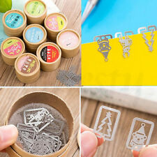 20pcs Novelty Mini Stainless Steel Bookmarks Clip Bookmark Stationery Gift
