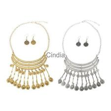 Women's Fashion Coins Style Alloy Necklace Chain Necklace Earrings Jewelry Set