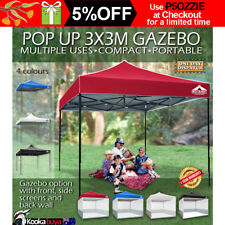 3m x 3m Pop-up Gazebo Garden Marquee Outdoor Folding Party Tent Canopy