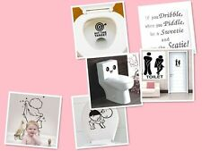 Bathroom Toilet Decoration Seat Art Wall Stickers Quote Decal Home Cute Decor