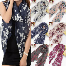 WOMEN SOFT BUTTERFLY LONG NECK VOILE WRAP SHAWL PASHMINA STOLE SCARF FIRST-RATE