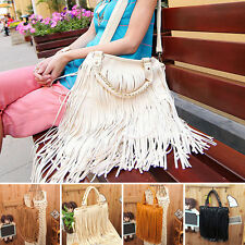 Fashion Women Celebrity Fringe Tassel Shoulder Messenger Bag Handbag SE