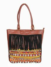Handmade Old Coins Women Leather Crafted Ethnic Carry Bag